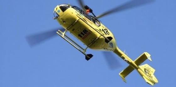 Il ragazzo dopo la caduta è stato trasportato con l'elicottero all'ospedale di Udine (© Diario di Udine)