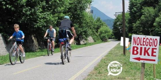 Un tratto della ciclabile Alpe Adria (© Diario di Udine)