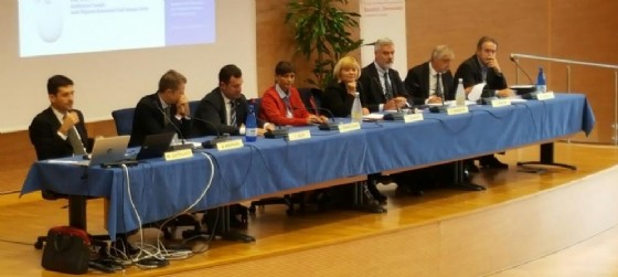 I relatori durante l'incontro per la presentazione di cercabandi
