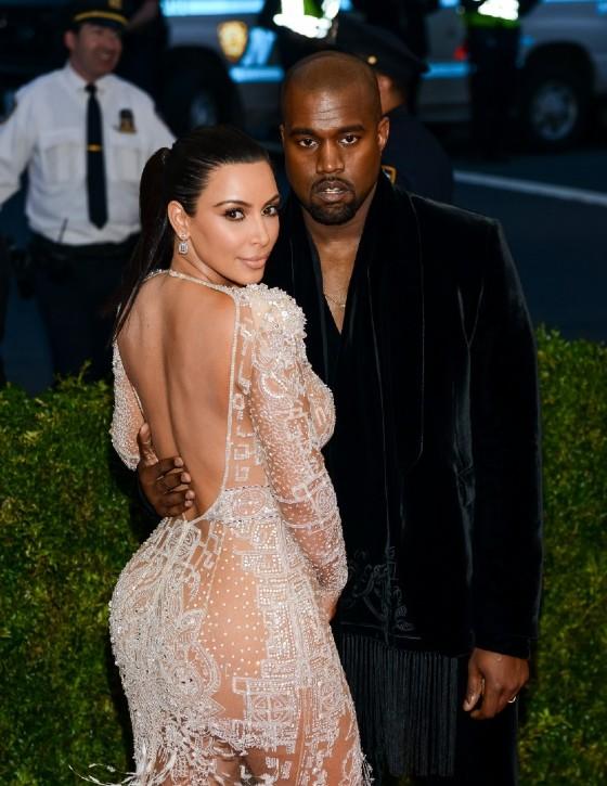 Kanye West con la moglie, Kim Kardashian