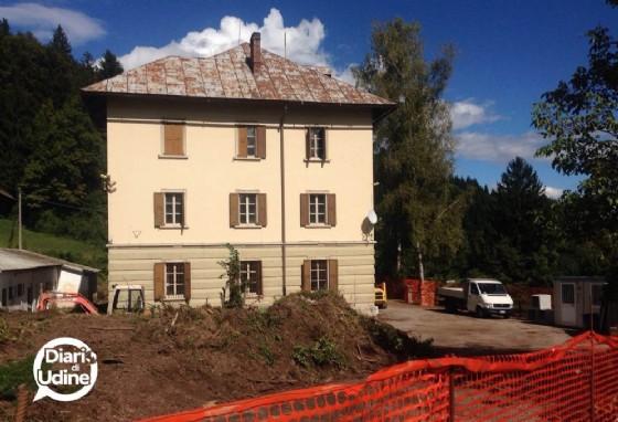 I lavori nell'ex caserma Meloni di Coccau (© Diario di Udine)