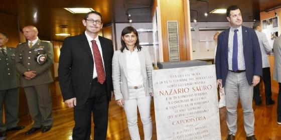 L'apertura della mostra dedicata a Sauro