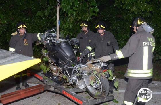 La moto della vittima (© Diario di Udine)