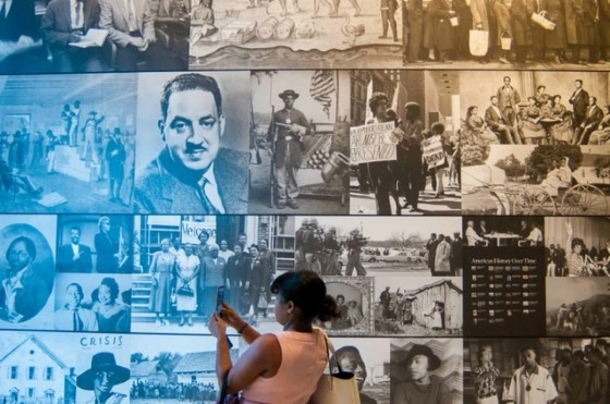 An exhibit is displayed during a press preview at the Smithsonian's National Museum of African American History and Culture in Washington, DC on September 14, 2016 © Preston Keres (AFP/File)