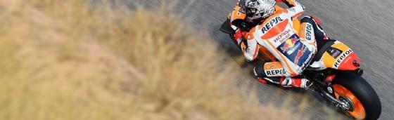 Marc Marquez in azione nelle prove libere ad Aragon (� Michelin)