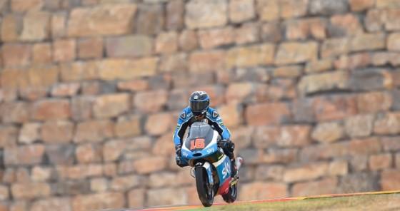 Andrea Migno in azione nelle prove libere ad Aragon (� VR46)