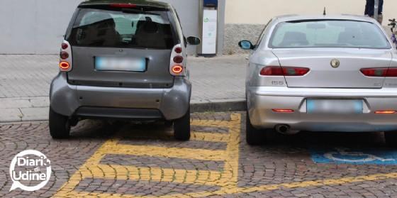 Un parcheggio 'creativo' in via Grazzano