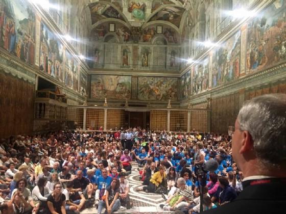Don Geretti nella Cappella Sistina
