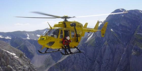 Incidente a Gemona del Friuli, intervenuto anche l'elicottero del 118 (© Diario di Udine)