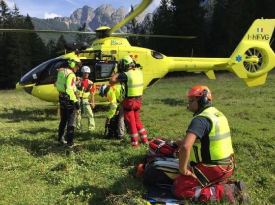 Soccorso alpino impegnato nelle ricerche (© Diario di Udine)