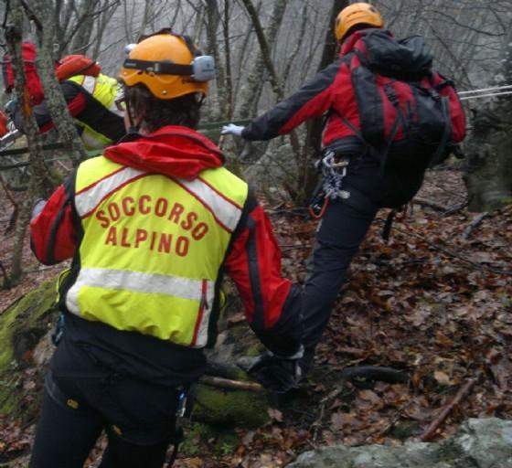 Gli uomini del soccorso alpino (© Diario di Udine)