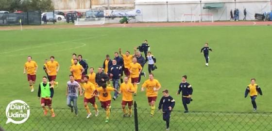Il Tarvisio festeggia la promozione (© Diario di Udine)