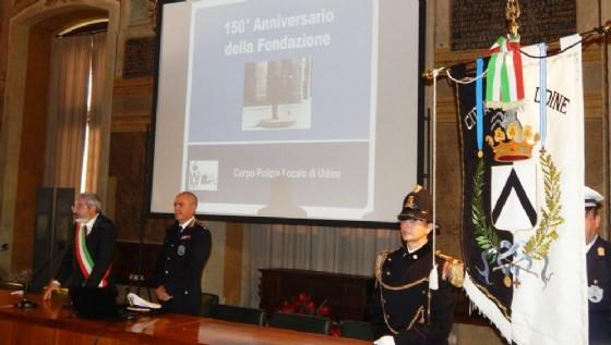 Le celebrazioni per i 150 anni della Polizia locale (© Comune Udine)