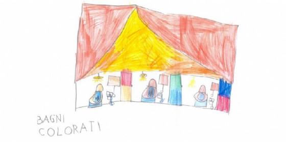 """Una delle proposte dei ragazzi che hanno lavorato per il progetto """"La scuola che vorrei"""" presentato al Comune di Udine (© Comune di Udine)"""