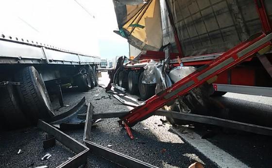 Uno degli incidenti che ha bloccato l'A4