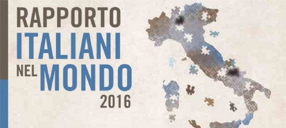 La copertina della sintesi del Rapporto 'Italiani nel mondo 2016' presentato da Migrates (© Fondazione Migrates)