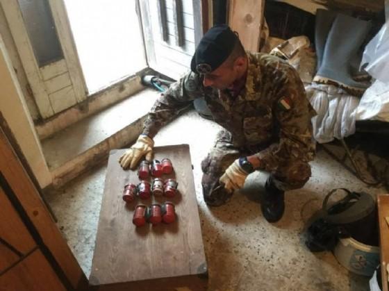 Le bombe recuperate a Fagagna (© Genio)