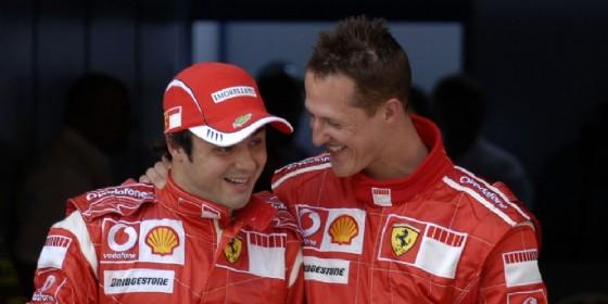 Felipe Massa e Michael Schumacher ai tempi della Ferrari (© Ferrari)