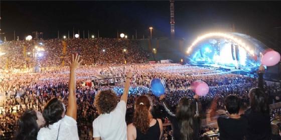 Lo stadio Friuli strapieno per il concerto dei Coldplay