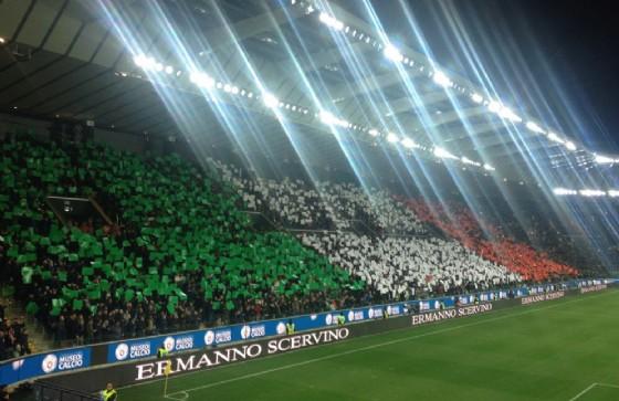 l'Italianità el a Udine si vede solo sugli spalti (© Diario di Udine)