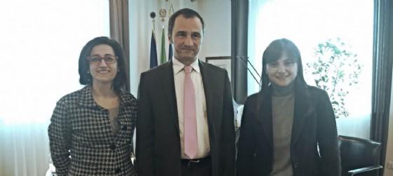 Sara Vito Assessore regionale Ambiente, Luca Marchesi direttore Arpa, Debora Serracchiani, presidente della Regione Fvg