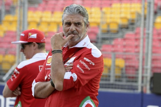 Il team principal Maurizio Arrivabene con Kimi Raikkonen (© Ferrari)
