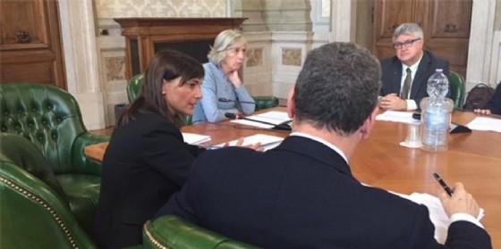 Serracchiani e Bolzonello durante l'incontro di Roma (© Regione Friuli Venezia Giulia)
