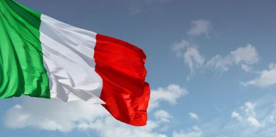 Una bandiera italiana.