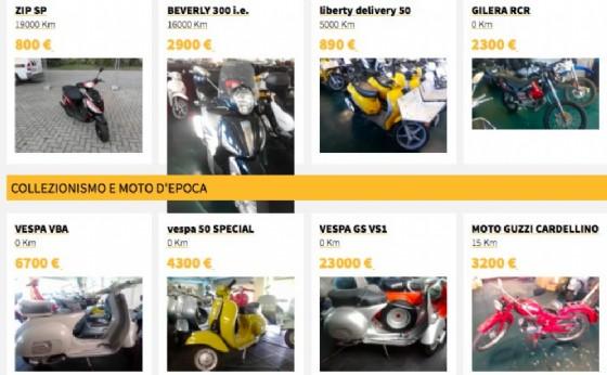 Uno dei tanti siti dove i privati vendono motocicli (© Internet)