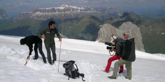 Piero Badaloni sulle Dolomiti (© Fondazione Dolomiti Unesco)