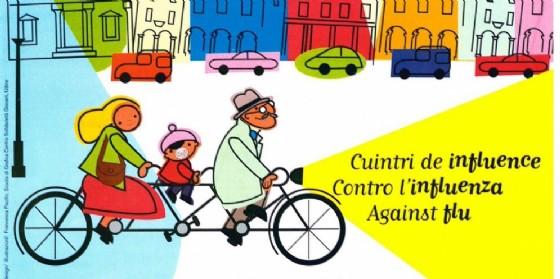Il manifesto scelto per la campagna antinfluenzale (© Comune Ud)