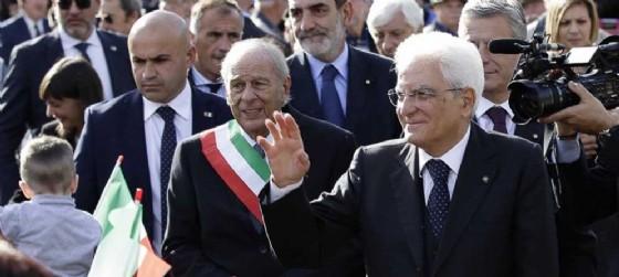 Ettore Romoli (Sindaco Gorizia) e Sergio Mattarella (Presidente Repubblica Italiana) - Gorizia 26 ottobre 2016 (© Fabrice Gallina)