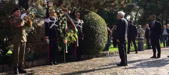 Sergio Mattarella (Presidente Repubblica Italiana) al Parco della Rimembranza - Gorizia 26 ottobre 2016