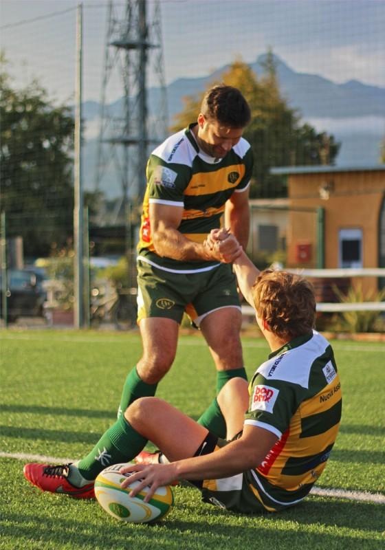 Giocatori del Biella Rugby: il gruppo c'è!