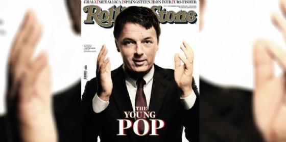 Il premier Matteo Renzi sulla copertina di Rolling Stone (© Rolling Stone)
