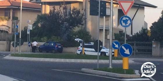 Un incidente in via della Faula (© Diario di Udine)