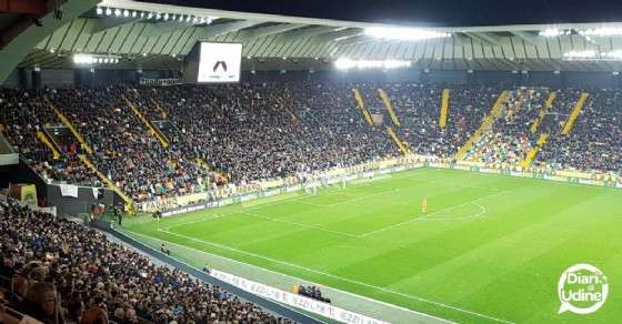 Lo stadio Friuli durante la sfida tra Udinese e Torino