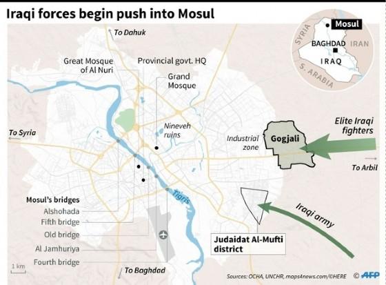 Iraqi forces enter Mosul © Vincent Lefai, Paz Pizarro (AFP)