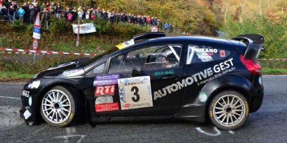 La Ford Fiesta WRC di Pinzano-Zegna, vincitori della gara
