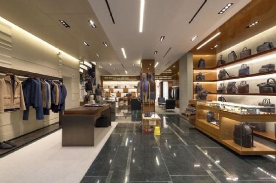 L'interno del nuovo global store Zegna a Londra