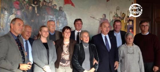 Maria Teresa Bassa Poropat e i sindaci di Trieste e provincia