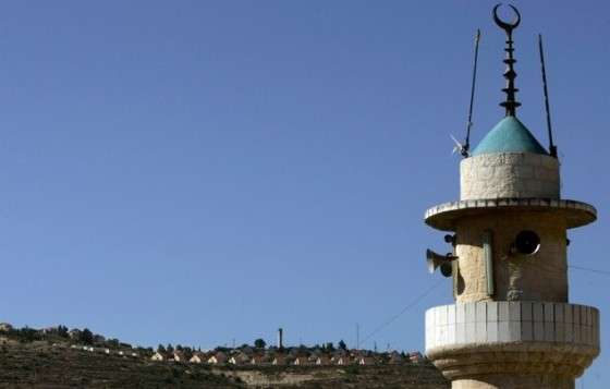 The minaret of a mosque in the West Bank village of Lubban Ash-Sharqiya, south of Nablus, pictured May 4, 2010