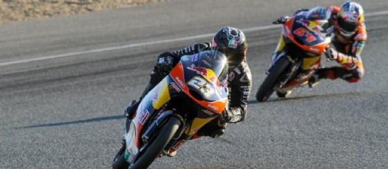 Niccolò Antonelli in azione nei test di Valencia (© Ajo)