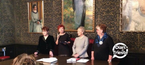 Mirella Pipani, Tiziana Sandrinelli, Maria Tersa Bassa Poropat e Mariella Marchi