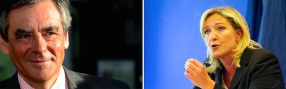 I due candidati alle presidenziali francesi François Fillon e Marine Le Pen (© Shutterstock.com)