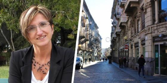 Il consigliere comunale Antonella Buscaglia e via Italia