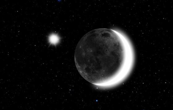 Luna e Venere vicini