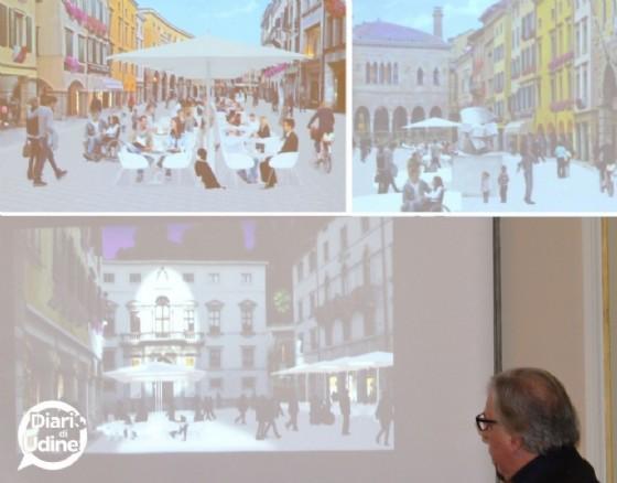 I rendering del progetto di via Mercatovecchio (© Diario di Udine)