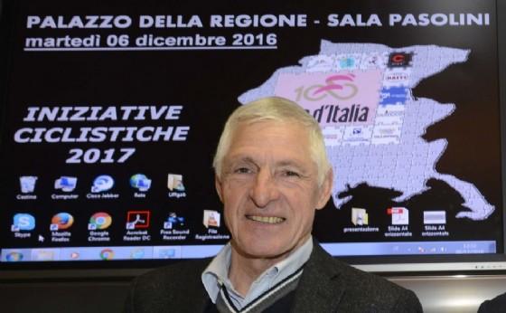 Moser testimonial del Giro d'Italia in Fvg (© Regione Friuli Venezia Giulia)
