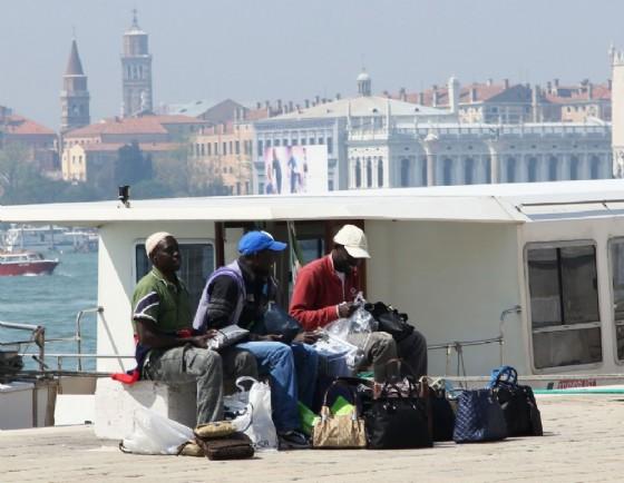Profughi sbarcati a Venezia